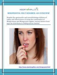 Misoprostol Only Regimen an Overview