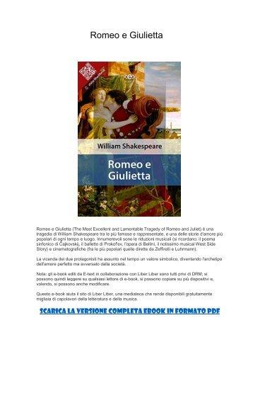 [ SCARICA ] Romeo e Giulietta PDF