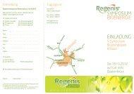SYMPOSIUM BIOENERGIE EINLADUNG - Regenis