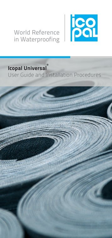 Icopal Universal User Guide and Installation Procedures