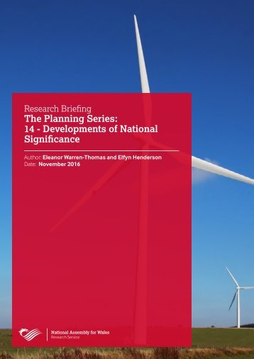 The Planning Series 14 - Developments of National Significance