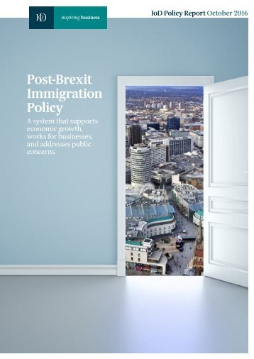 Post-Brexit Immigration Policy