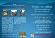 Wasser für Afrika - Umunumo Freundeskreis
