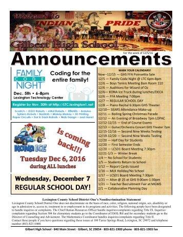 REGULAR SCHOOL DAY!