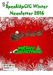 SpeakUpCIC Winter Newsletter 2016