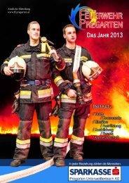 Jahresbericht 2013 - Freiwillige Feuerwehr Pregarten