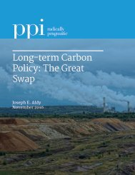 Long-term Carbon Policy The Great Swap