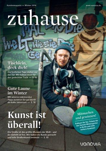 "Vonovia Kundenmagazin ""zuhause"" Winter 2016"