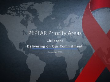 PEPFAR Priority Areas