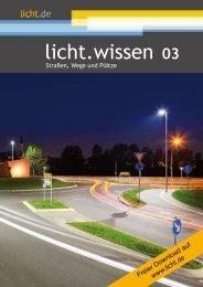 """licht.wissen 03 """"Straßen, Wege und Plätze"""