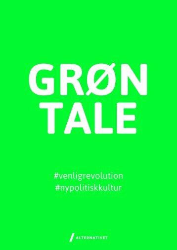 grøn tale