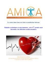 Les maladies systémiques et auto-immunes 4ème  cause  des atteintes cardiovasculaires