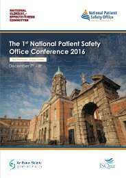 The 1 National Patient Safety Office Conference 2016