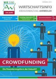 AW Wirtschaftsinfo Dezember 2016 - Crowdfunding, die Finanzierungsform der Zukunft?