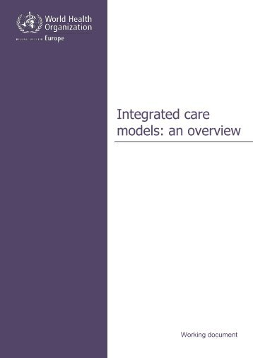 Integrated care models an overview