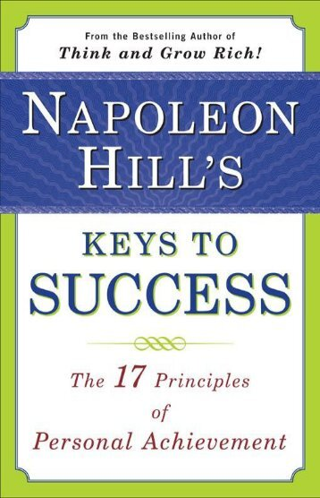 KEYS TO SUCCESS NAPOLEON HILL 17 PRINCIPLES