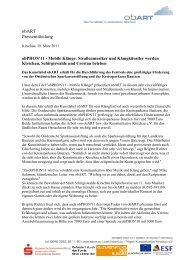 obART Pressemitteilung