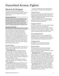 Unearthed Arcana Warlock & Wizard
