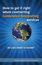 How to get it right when contracting Conference Interpreting services