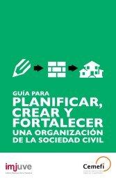 Guia para planificar crear y fortalecer una organizacion de la sociedad civil Imjuve