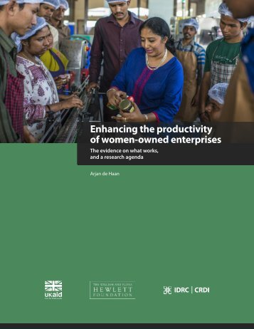 Enhancing the productivity of women-owned enterprises