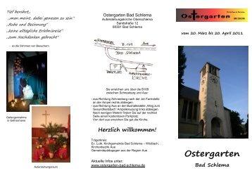 Herzlich willkommen! - Ostergarten Bad Schlema