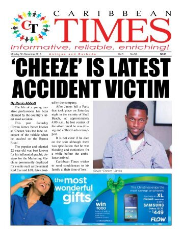 Caribbean Times 50th Issue - Monday 5th December 2016