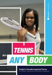 Guide to Visually Impaired Tennis