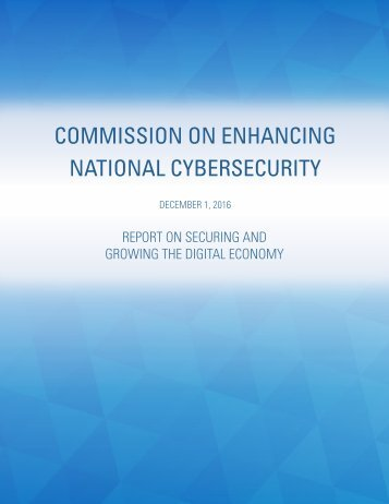 COMMISSION ON ENHANCING NATIONAL CYBERSECURITY