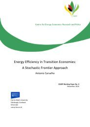 Energy Efficiency in Transition Economies A Stochastic Frontier Approach