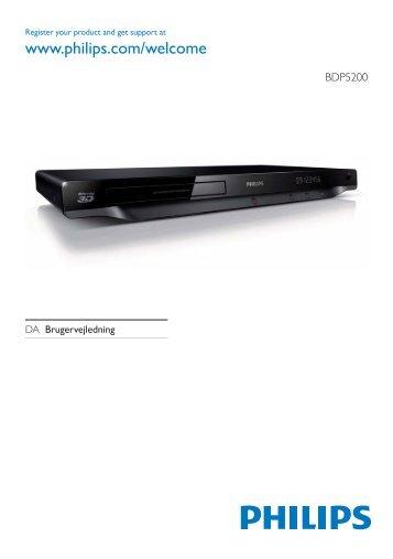 Philips 5000 series Lecteur Blu-ray / DVD - Mode d'emploi - DAN
