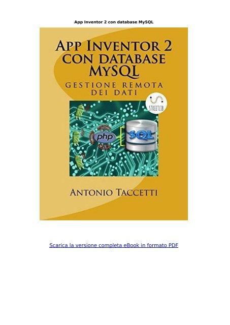 App Inventor 2 Database Mysql Ebook