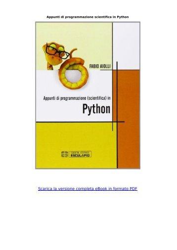 Appunti-programmazione-scientifica-Python-Aiolli