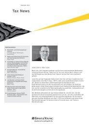 Tax News – Dezember 2011 - Home - Ernst & Young - Schweiz