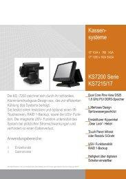 Kassen- systeme KS7200 Serie KS7215/17