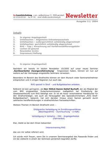 11-2004 - Zorn-Seminare