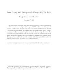 Asset Pricing with Endogenously Uninsurable Tail Risks