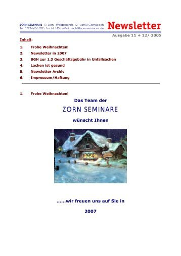 11-2006 - Zorn-Seminare