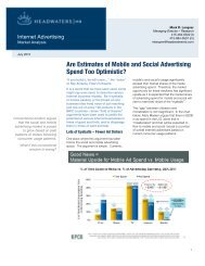 Are Estimates of Mobile and Social Advertising ... - Headwaters MB