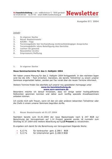 7-2004 - Zorn-Seminare