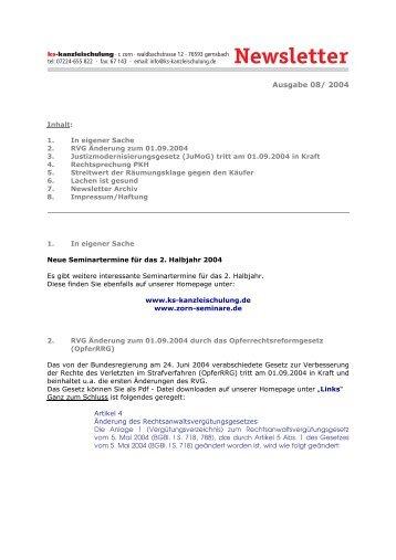 8-2004 - Zorn-Seminare