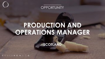 PRODUCTION AND OPERATIONS MANAGER