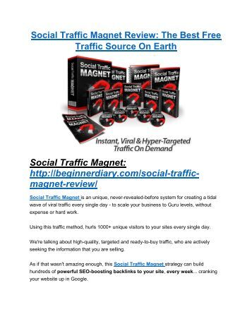 Social Traffic Magnet review and giant bonus with +100 items