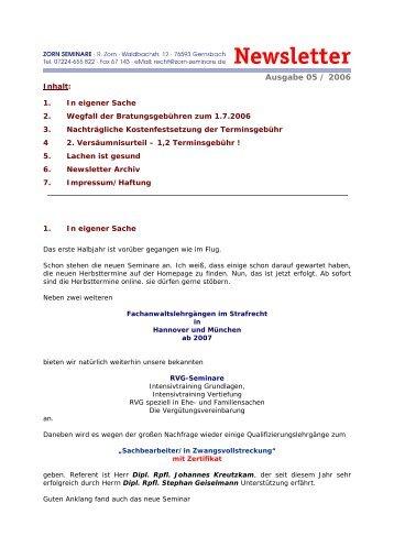 5-2006 - Zorn-Seminare