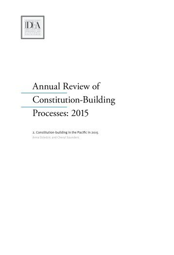 Annual Review of Constitution-Building Processes 2015