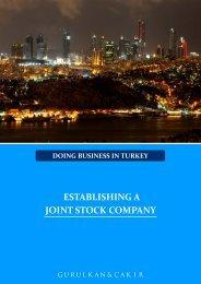 ESTABLISHING A JOINT STOCK COMPANY