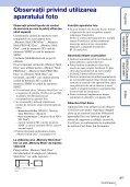 Sony DSC-T110 - DSC-T110 Istruzioni per l'uso Rumeno - Page 3