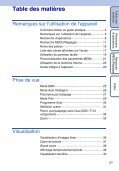 Sony DSC-T110 - DSC-T110 Istruzioni per l'uso Francese - Page 5