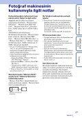 Sony DSC-T110 - DSC-T110 Istruzioni per l'uso Turco - Page 3
