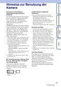 Sony DSC-T110 - DSC-T110 Istruzioni per l'uso Tedesco - Page 3
